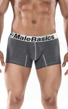 Mens Cotton Boxer Short Asphalt MALEBASICS