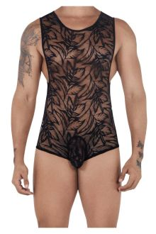 CandyMan 99531 Lace Bodysuit Exposed Butt