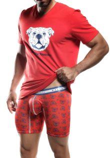 V-Neck T-Shirt Red SoCal Bulldog