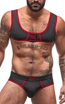 Male Power Cotton Spandex Mini Tank Bikini Set