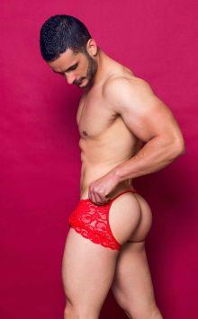 MOB Men's Lace Open Back Boxer